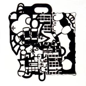 ABSTRACCIÓN CONTAMINADA Sin Titúlo (2010) Tinta Sobre Papel / 40 x 40 cm