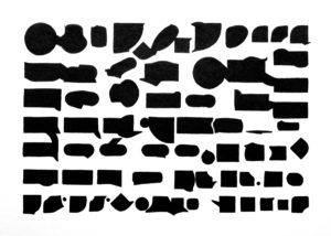 """Serie: """"QUE HAY EN HAWAI QUE HONOLULU NO RESPONDE"""" Sin Título (2010) / Tinta Sobre Papel / 25x35 cm"""
